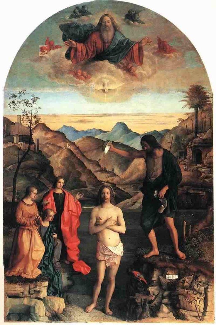 """http://www.oel-bild.de/Bilder/Baptism-of-Christ.jpg """"Baptism of Christ"""" by Giovanni Bellini"""