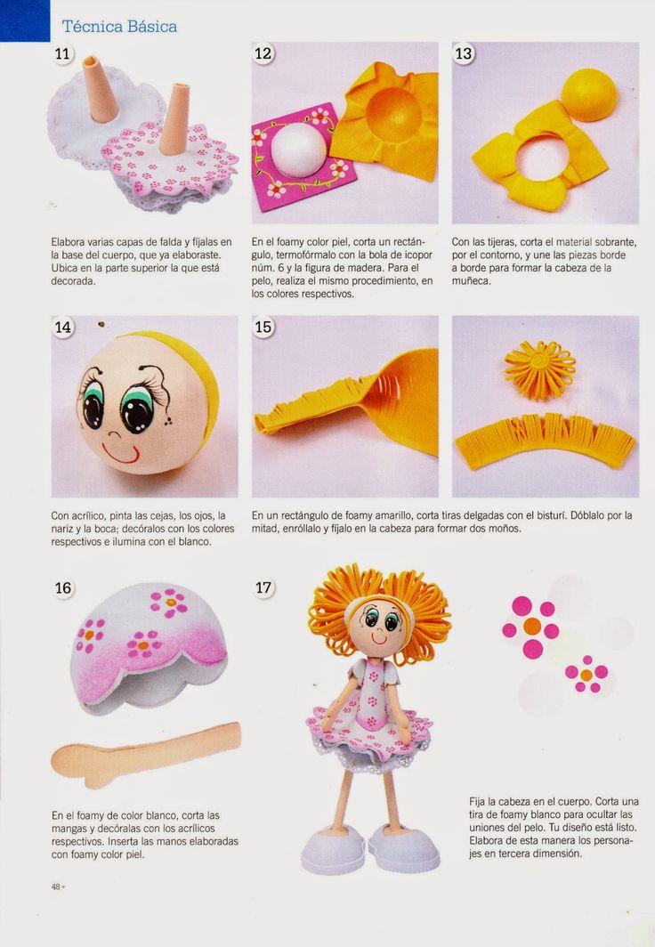 Como hacer cupcake en foamy - Revistas de manualidades Gratis