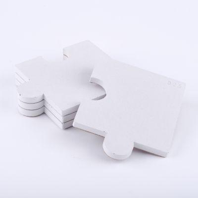 Podkładki puzzel 4 sztuki - białe // Projekt B25