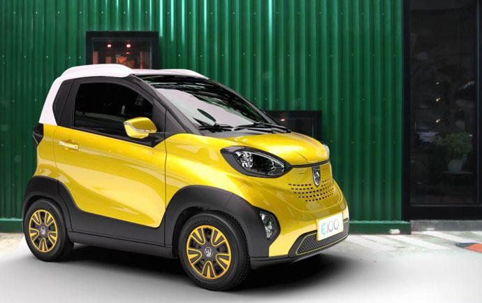 GM has launched an electric city car that costs £3,829, which is less than it costs to buy a 125cc Vespa scooter.