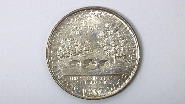 Silbermünze USA 1/2 Dollar 1937 Zustand siehe Bilder