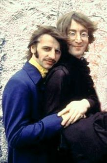 Richard Starkey and John Lennon (I love this picture!)