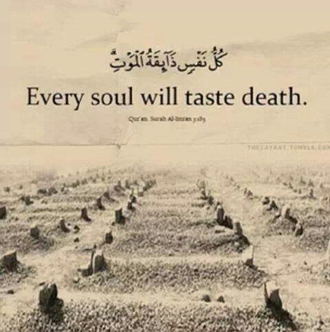 Ina lilahi wa ina alayhi raji'un May we die as Muslims, firm, upon the haqq. Ameen