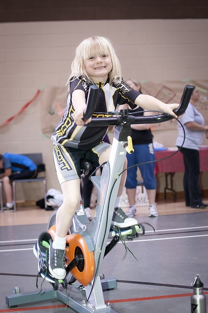 Scott rider on a spin bike during the Collingwood Y Ride