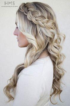 penteados com trança                                                                                                                                                                                 Mais