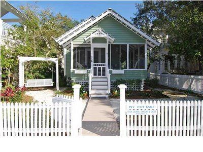 Someday I'd like to live in a cute little cottage like this in a beach town. From the blog Beach Cottage Love.
