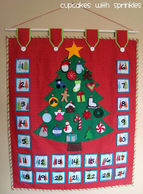 Looking for some cool homemade advent calendars.  Maybe if I start one now, I can have it done by next December!