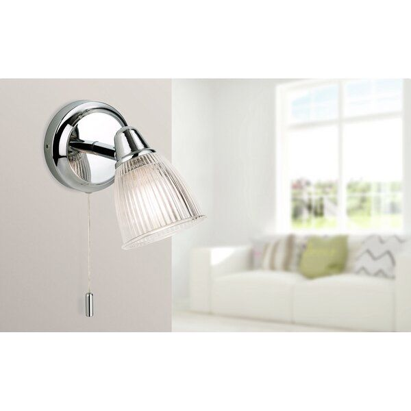 Modern Style Bathroom Wall Light With Pull Cord Switch For Convenience In 2020 Modern Style Bathroom Wall Lights Bathroom Wall Lights