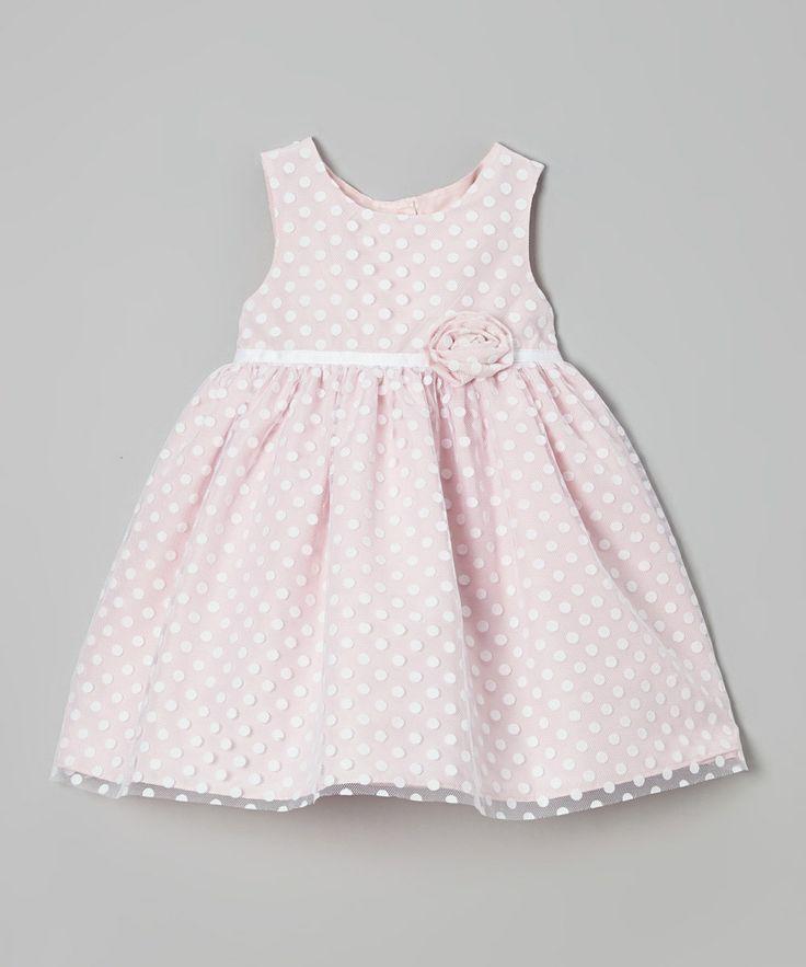 Pink Polka Dot Ruffle Flower Dress - Infant & Toddler by Marmellata #zulily #zulilyfinds