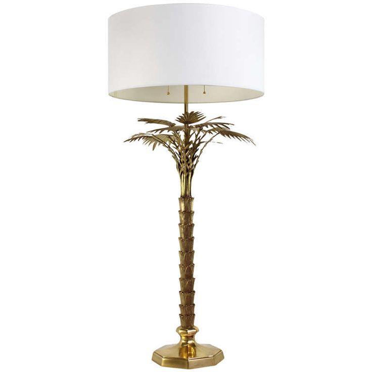 brass palm tree lamp