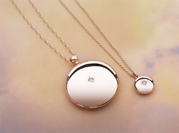 Astley Clarke Engravable Rose Gold Lockets