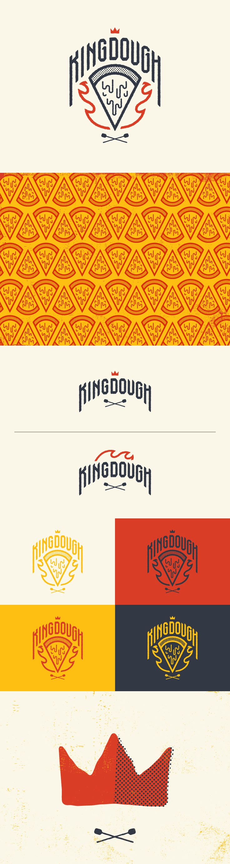KingDough, first I love the play on words that this brand has. Plus have the very screen print look gives this logo a sense of organic feel that a pizza company needs.