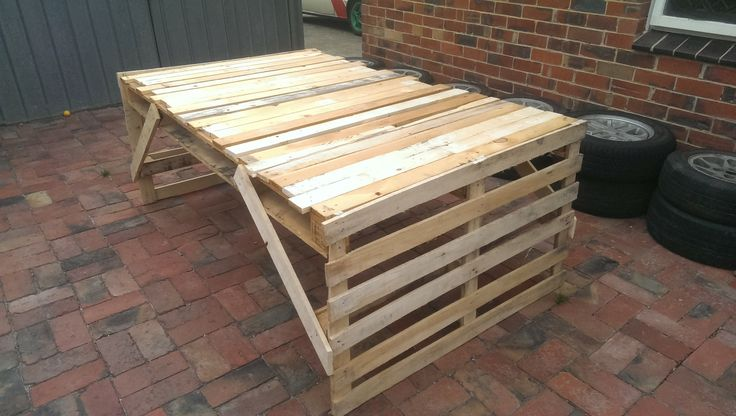 17 best ideas about pallet table outdoor on pinterest diy pallet furniture pallet furniture - Pallet outdoor furniture instructions ...