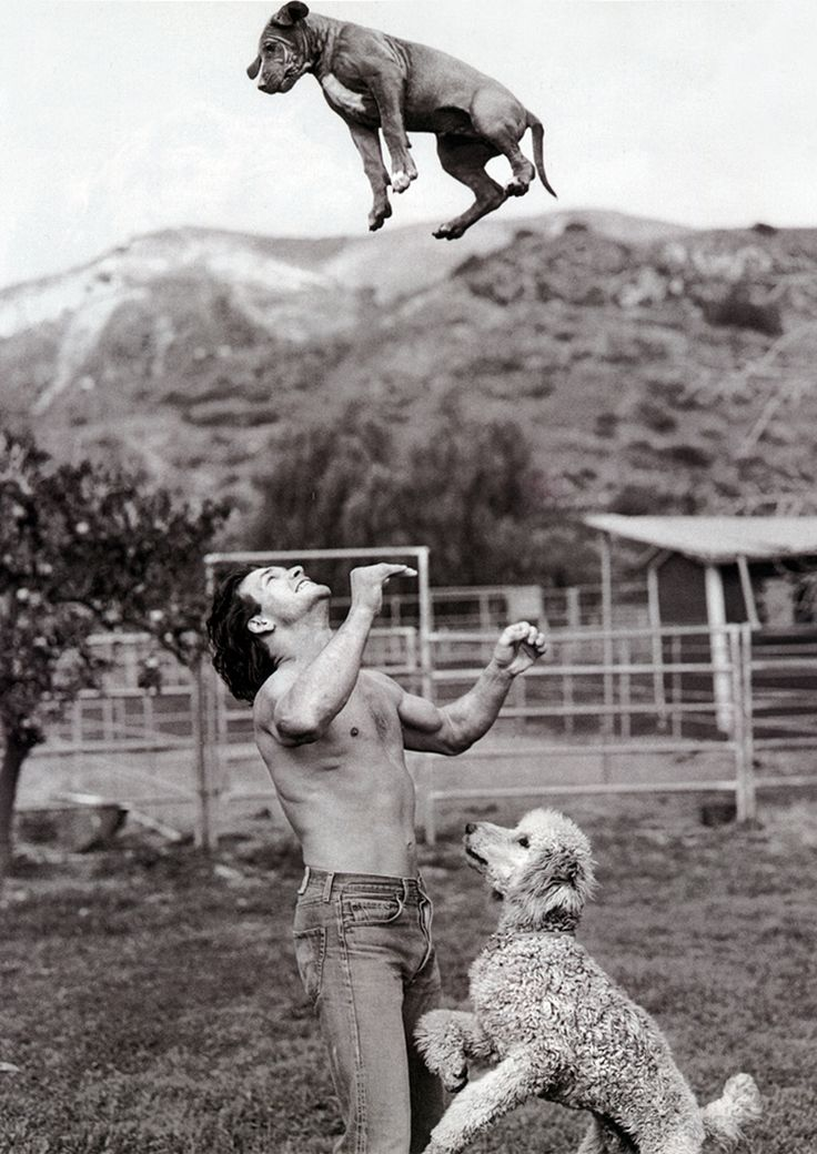 Patrick Swayze.all I have to say is he better have caught that puppy!!!!