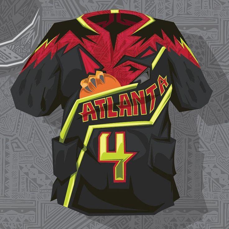 Atlanta Hawks Dashiki Illustration