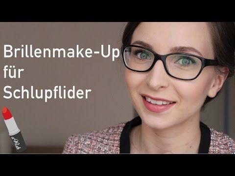 BRILLENMAKE-UP für SCHLUPFLIDER (Augen größer und kleiner schminken) – YouTube