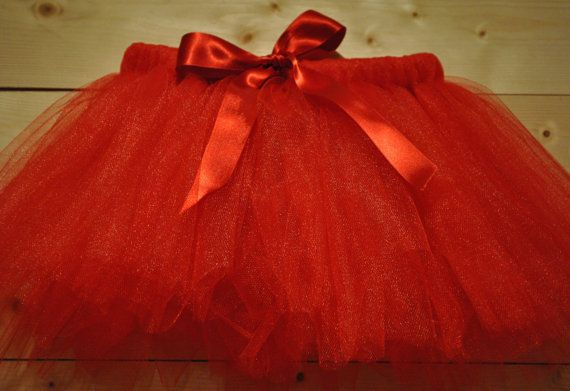 Red Christmas Tutu with Satin Bow, Christmas tutu,  Girls tutu, baby tutu on Etsy, £12.00