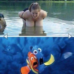 What scares Dory and Marlin?