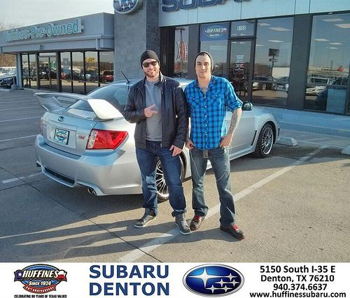 Thank you to Christopher Warnes on your new 2014 #Subaru #Impreza WRX from Michael Raupp and everyone at Huffines Subaru Denton! #NewCar
