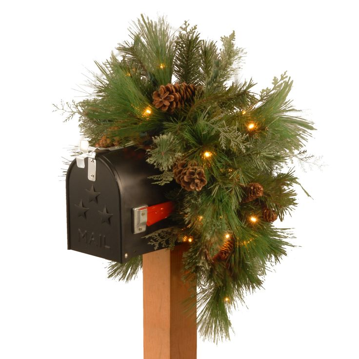 national tree dc13 116 36mb 1 36 decorative collection white pine mailbox - White Pine Christmas Tree