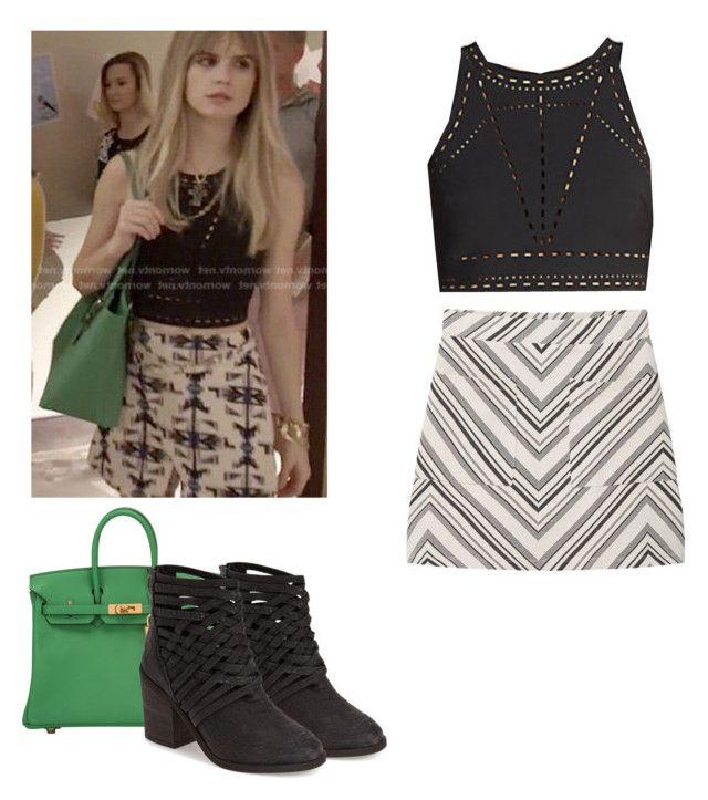 Brooke Maddox - mtv scream by shadyannon on Polyvore featuring polyvore fashion style Elizabeth and James MANGO Free People Hermès clothing