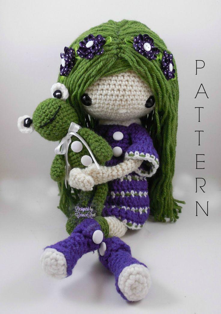 November Amigurumi Doll with frog Crochet Pattern van CarmenRent op Etsy
