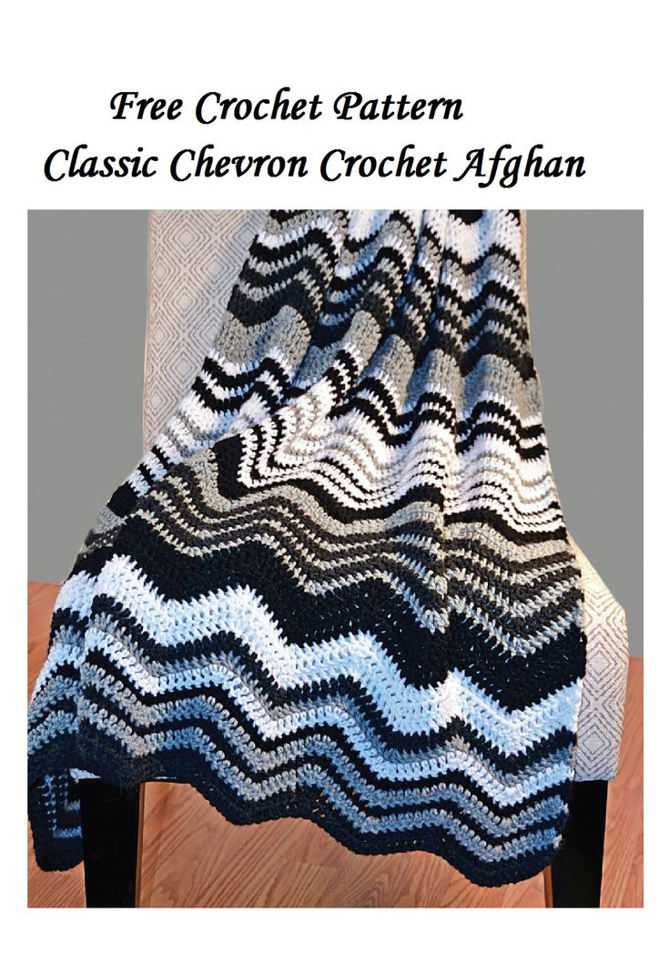 Free Crochet afghan pattern the classic chevron afghan pattern to crochet