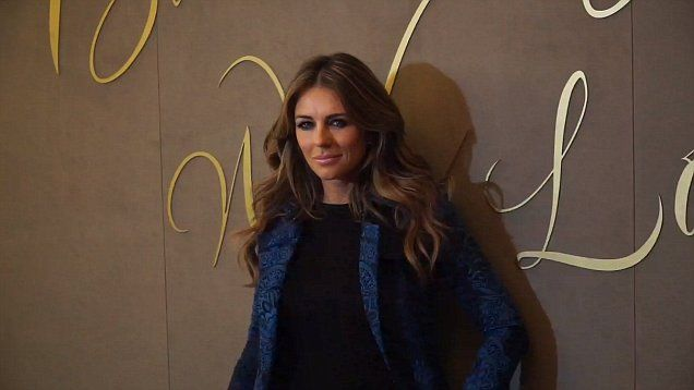 Elizabeth Hurley looked beautiful in blue at Burberry With Love film festival in London.