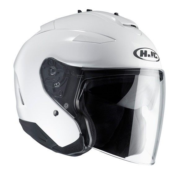Casco moto jet doppia visiera HJC Helmets IS-33 II Metal / WHITE