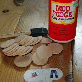 Wooden Nickle Chore Magnets