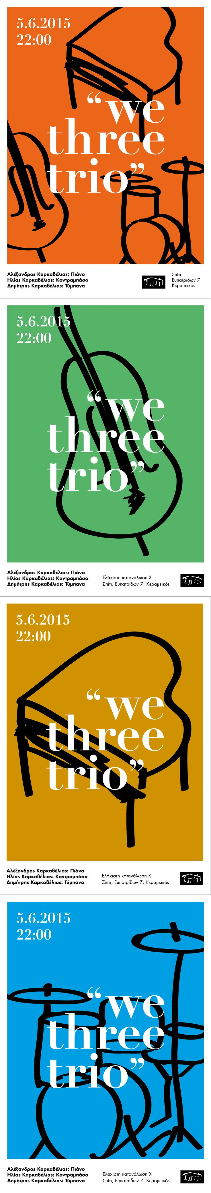 We three trio posters by Sofia Braila