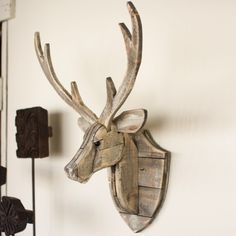Recycled Wooden Deer Head Wall Mount                                                                                                                                                      More