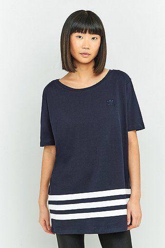 nice adidas Originals - Oversized-T-Shirt mit 3-Streifen-Styling -