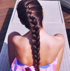 A beautiful French braid