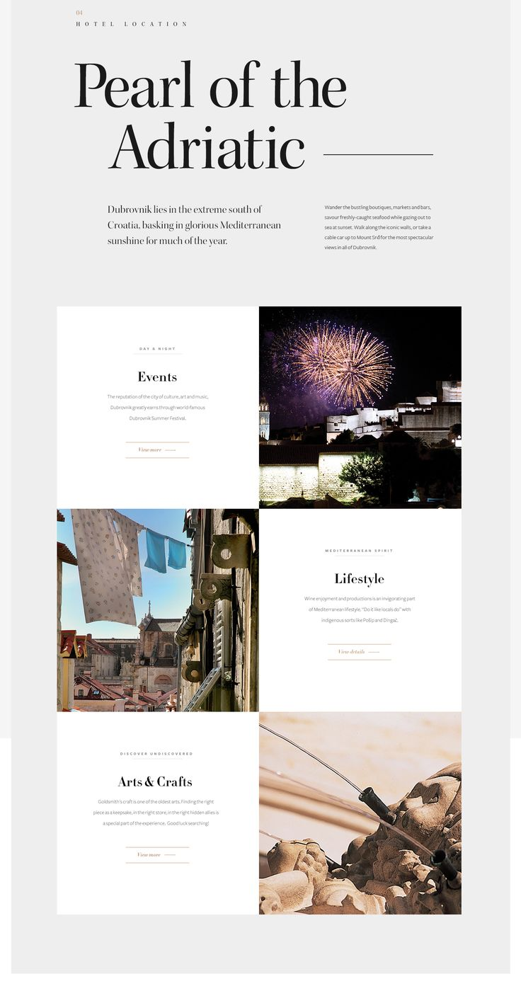 Adriatic Luxury Hotels is the collection of finest independent luxury hotels in Dubrovnik, Croatia. We created a visually attractive and responsive website to provide a user friendly experience for visitors from all devices.