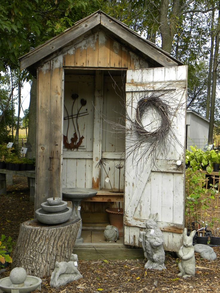 Free decorative outhouse plans woodworking projects plans for Decorative garden accents