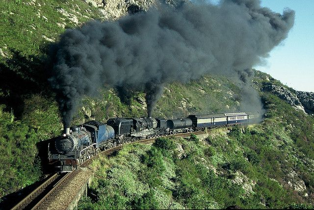 old railroad trains of south africa in photos | Steam train negotiating Montagu Pass, South Africa | Flickr - Photo ...