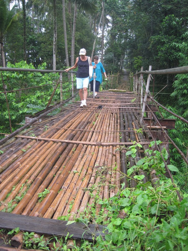 trust your life to bamboo on Bali
