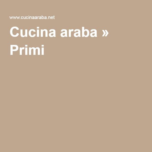 Cucina araba » Primi