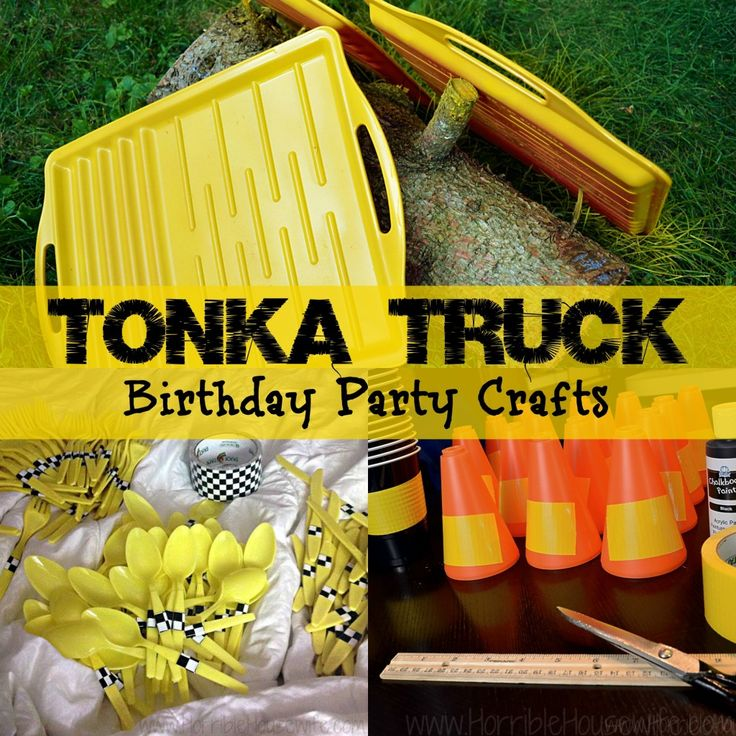 Tonka Truck Birthday Party Crafts @Ami Jo Koberstein  This would be cute for Fynn's Birthday!