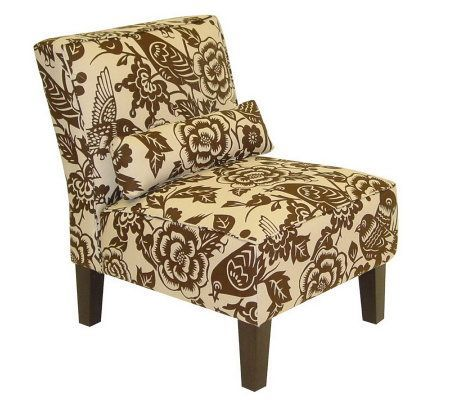 Armless Canary Upholstered Slipper Chair Living Room