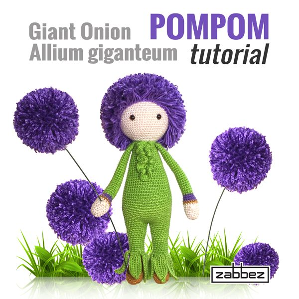 giant onion POMPOM tutorial