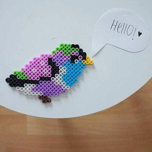 Birdy hama beads by Lonneke van Ooijen