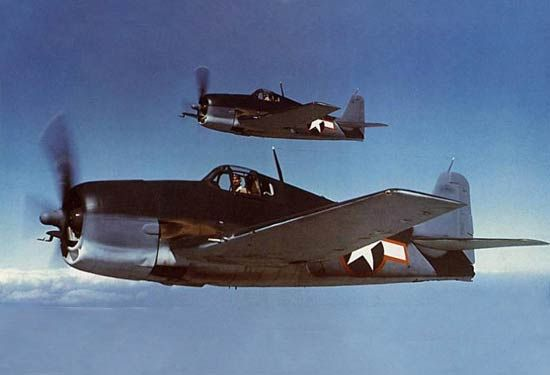 ww2 fighter planes | F6F Hellcat fighter, WWII American fighter plane