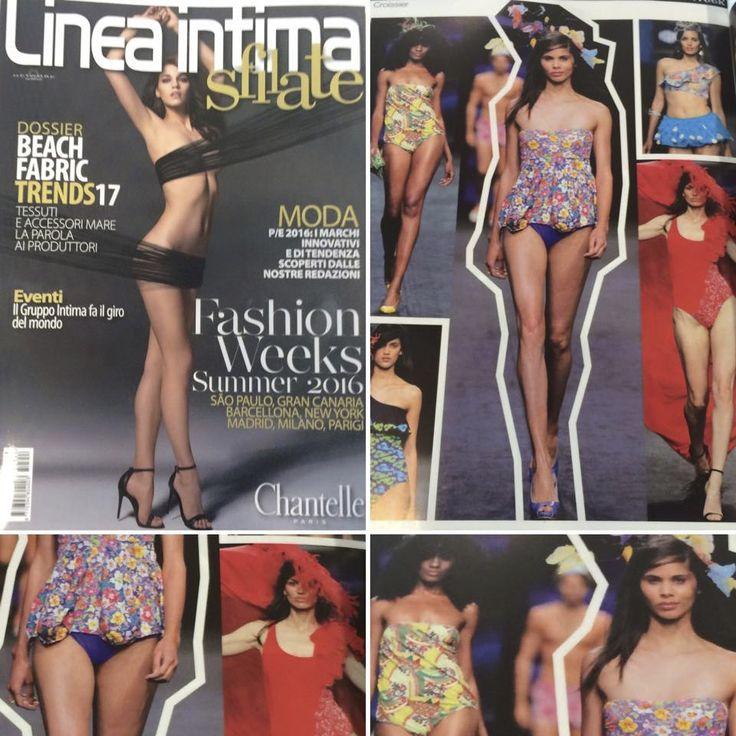 Los Toc-hado´s en colaboración con la firma de baño Croissierswimwear de Gran Canaria moda Cálida en la revista italiana Linea íntima.