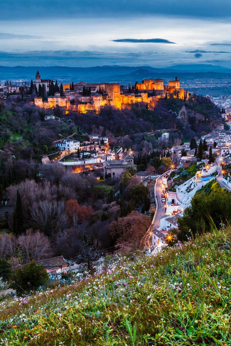 Alhambra, View from Sacramonto                   http://hostmyniche.com/learnspanish/