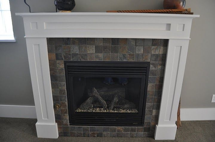 Slate Fireplace Surrounds With White Mantle Google