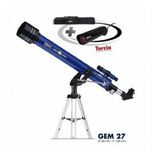 Telescopio GEM 27 Ziel completo di treppiedi, borsa da asporto e torcia LED rossa a doppia illuminazione  www.fotomatica.it | info@fotomatica.it