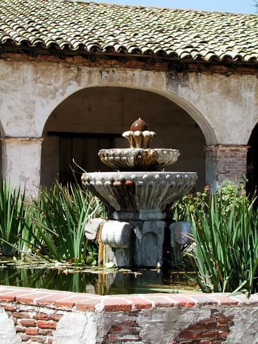 Foutain at the San Miguel Mission in San Miguel, Ca
