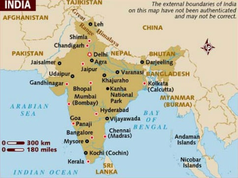 Lonely Planet, in its Map of India, marks out the border as per the official map of India but the Map of Pakistan shows parts of Pakistan administered Kashmir as Pakistani territory.